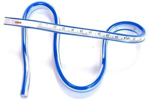 Flexible Design Curve Ruler Plastic Quilters Drafting Drawing Measuring 50cm