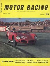 Original February 1962 Motor Racing & Motor Rally Magazine Graham Hill On Cover