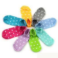5 Pairs Chic Womens Girls Sports Cute Heart Ankle High Low Cut Cotton Socks UK