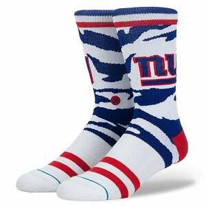 Stance Men's New York Giants Logo TigerStripe Camo Cushioned Socks  Large