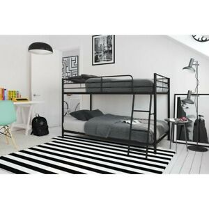 DHP 5458096 Junior Loft Bed Frame with Ladder, Size Twin - Silver