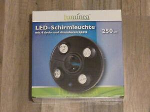 Luminea LED Sonnenschirm Beleuchtungen Lampe für Sonnenschirm max. 250 Lumen