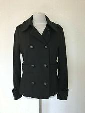 H&M military Jacke schwarz wolle Knöpfe Kragen uniform blazer Top