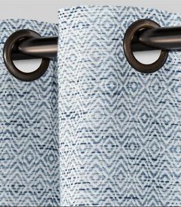 1 threshold diamomd weave Blue panel New Grommets Light Filtering