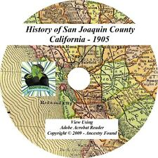 1905 History Genealogy San Joaquin Valley California CA -  CD DVD