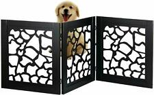 Giraffe Motif Design Design Adjustable & Folding Wooden Indoor Safety Pet Gate