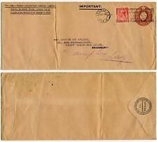 GB kg5 papeterie enveloppe anglo français exploration Co Sto 1928 + 1D