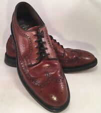 Vintage Hy-Test Brown Wing Tip Steel Toe Work  Shoes Mens 7E Rockabilly