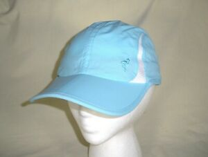 Columbia Lightweight Nylon Running Cap, Light Blue, One Size Unisex, Ex. Cond.
