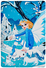 Kindertzeppich Spieltepich Eis-Prinzessin flauschig flauschig waschbar