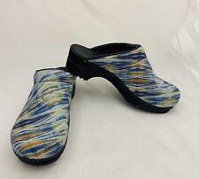 Sanita Professional Clogs Multicolored Fabric Nursing Women 38 US 7