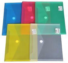 10x Dokumententaschen Umschläge Klettverschluss Abheftrand A5 farblos