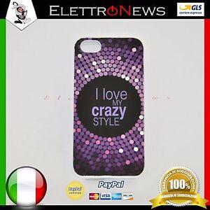 Cover custodia tpu per Iphone 5-5s I love my crazy style