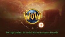 WoW 90 Tage Spielzeit EU Code/WoW 90 day Gametime code EU SONDERAKTION!