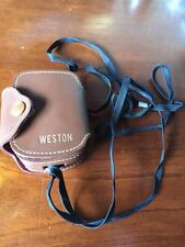 Vintage Weston Camera Exposure Meter Model 853 F Stop With Case and Strap