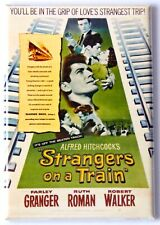 Strangers on a Train Fridge Magnet movie poster alfred hitchcock
