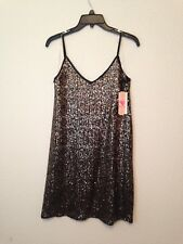 Giani Bini juniors cocktail dress black gold sequins shimmer SMALL NEW $69 #N707