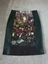 Replay Ladies Part Leather Skirt Size 40 One Off