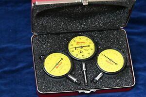 New in Case Starrett Dial Indicators S253MZ Set of 3 EDP 56283