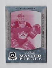 2007-08 UD The Cup Ultimate Collection Jonathan Quick RC #96 PRINTING PLATE #1/1