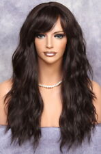 Long Dark Brown Wig So Natural N Realistic Goregeous wavy Heat Safe WBUK 4