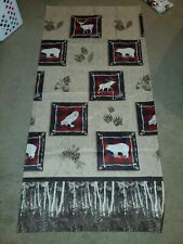 """Outdoorsy """"Up North"""" Sundance Shower Curtain. Bears, Moose, Pine cone. Skl Home"""