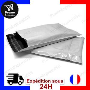 Lot 100 Enveloppes Plastique Expédition Opaques Pochettes Courrier Imperméable