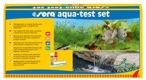 SERA AQUA TEST SET DETERMINAR VALORES IMPORTANTES AGUA ACUARIO PECES