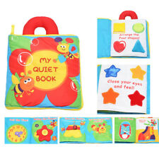 Flower Book Baby Toddler Interactive Intelligent Education Soft Cloth Book