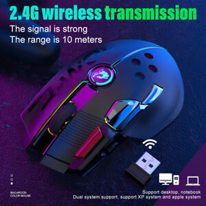 Wired Wireless Gaming Mouse For PC Laptop Rechargeable 12000 DPI RGB Lightweight