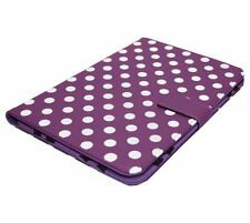 "Piccadilly Universal 9/10 9"" 10"" Inch Polka Dot PVC Tablet Case - Purple"