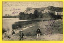 cpa FRANCE 89  SENS l'YONNE en face de St MARTIN du TERTRE Pêcheurs Jeanne d'Arc