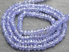 "HAND FACETED TANZANITE RONDELLES, 3mm, 13"", 150 beads"