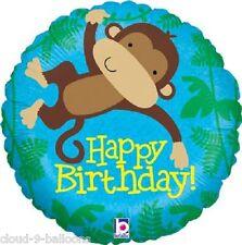 Monkey Buddy Happy Birthday Foil Balloon 18 inch (46cm) Party Event Decoration