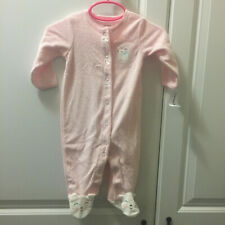 Nwt Carter's 6 Months Sleeper Pajamas Pj's Footed Mouse Pink Polka Dot