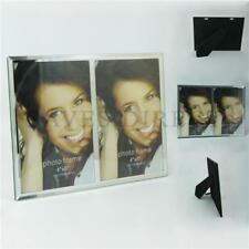 """Luxurious Special Moments Mirror Glass 4"""" X 6"""" Double Photo Picture Frame 1262"""
