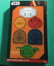 Star Wars Rebel Friends Cookie Cutters Set of 6 Nrw in The Package