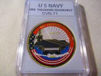 US NAVY - USS THEODORE ROOSEVELT - CVN-71 Challenge Coin