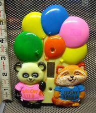 SHIRT TALES Panda Squirrel vtg bedroom switch-plate Hallmark 1980 Critter Sitter