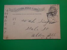 JB585 Antique 1894 Canada Postal Card 1 cent to US PM