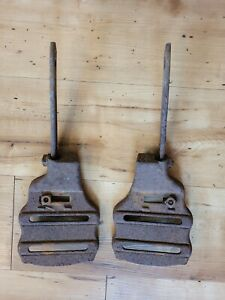 Early 20thc PLANET JR No 4 SEEDER Cultivator PAIR CHASSIS Frame PARTS 3787 3788
