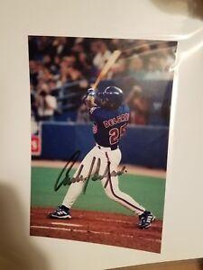CARLOS DELGADO TORONTO BLUE JAYS  SIGNED AUTOGRAPHED 5x7 PHOTO METS MLB BASEBALL