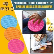 1* Push Pop Pop Bubble Sensory Fidget Toy Special Silent Autism Classroom Toy