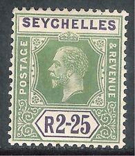 Seychelles1917 yellow-green/violet 2r.25c Die I multi-crown CA mint SG96