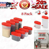 Clear Plastic Empty Spice Container Spice Jars with Lid Kitchen Bottle 2 8