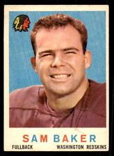 1959 Topps #175 Sam Baker Redskins EX-MT (ref 28191)