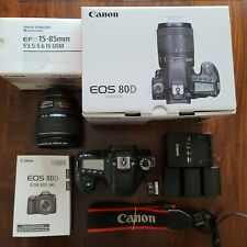 Canon EOS 80D 24.2 MP DSLR Camera with EFS 15-85mm IS USM Lens, 64GB memory card