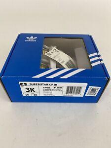 Newborn Adidas Originals Superstar Crib Shoes (S79916)  White // Black NIB w Tag
