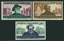 Italy 594-596, MNH. Giuseppe Verdi, composer, 50th death anniv. 1951