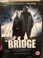 THE BRIDGE : COMPLETE SEASON ONE (2012) 3DVD RARE! SEALED!(Arrow) BBC Swedish R2
